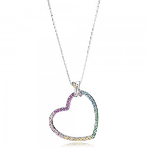 Collier Cœur Multicolore