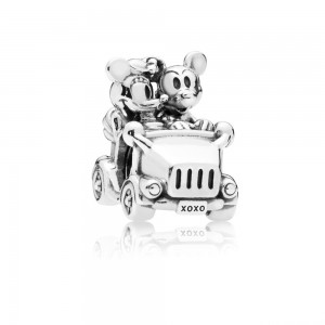 Charm Disney, Voiture Vintage de Mickey et Minnie