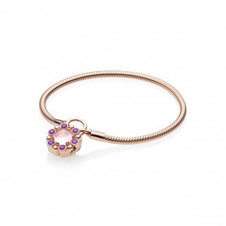 Bracelet Moments en PANDORA Rose, Fermoir Cadenas Éclat Héraldique